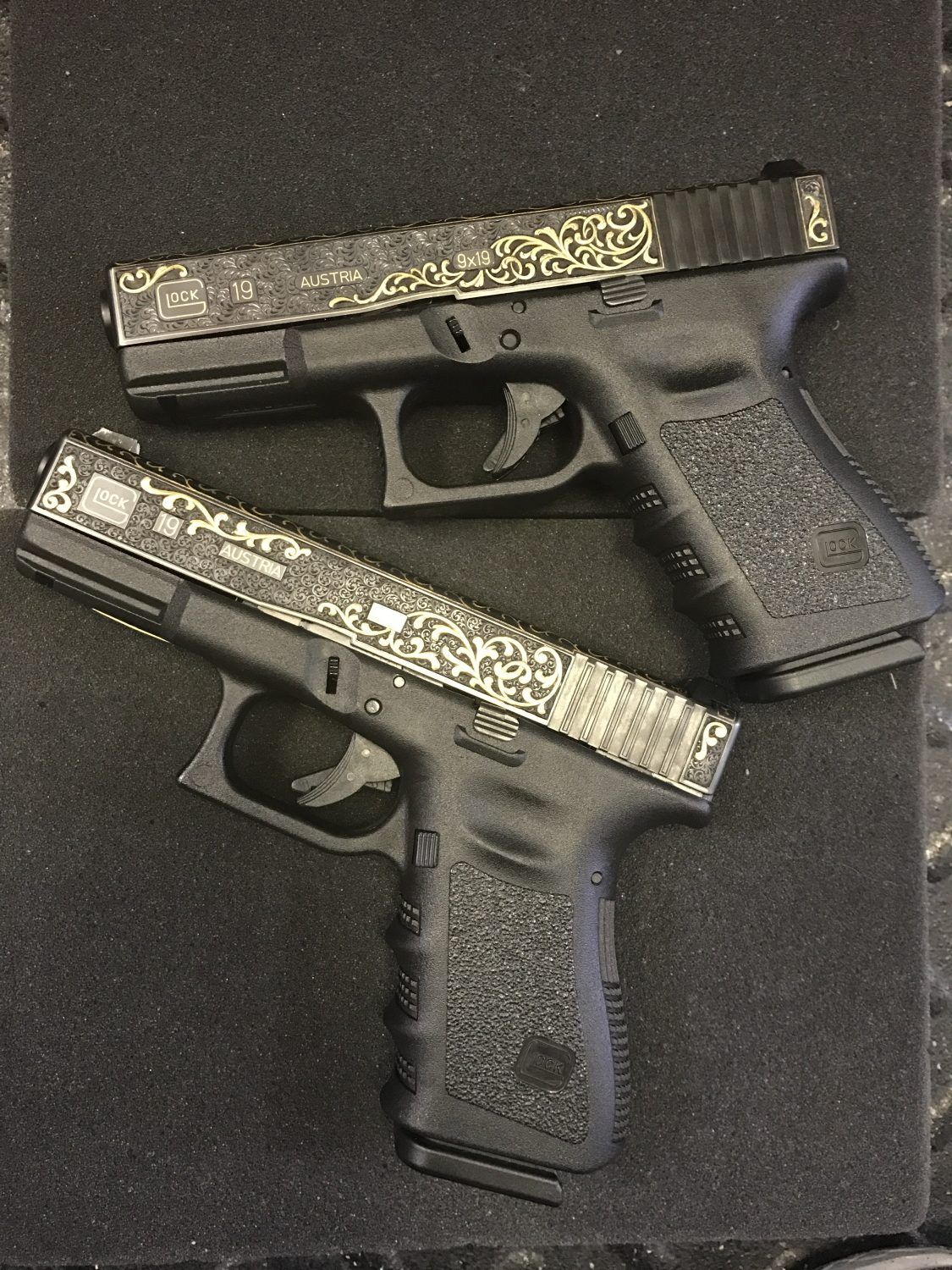 Engraved Glocks from the Factory | Firearm Photography ...