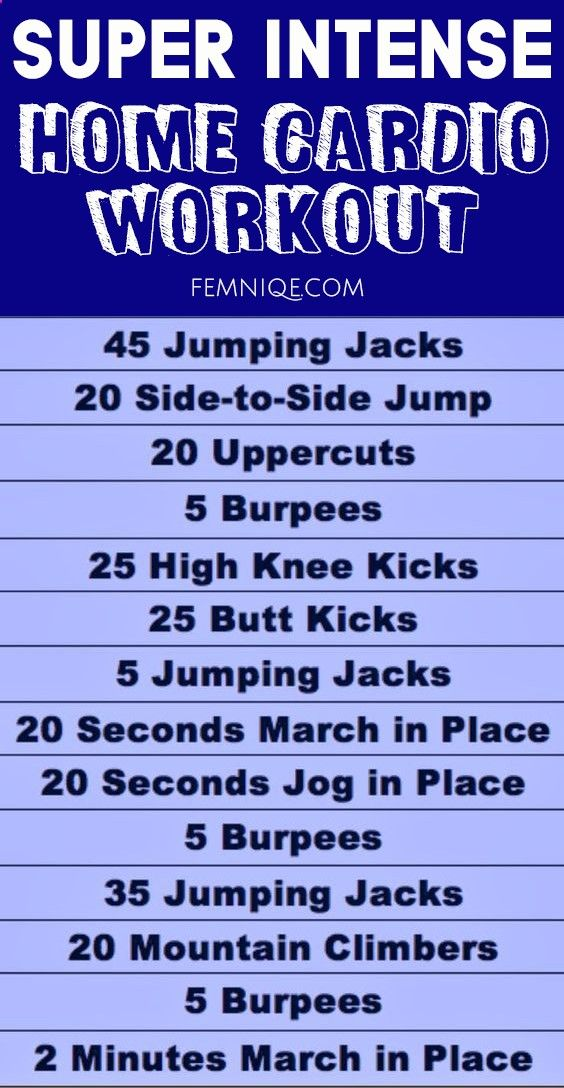 Cardio Workout At Home For Beginners Fat Burning Weight Loss
