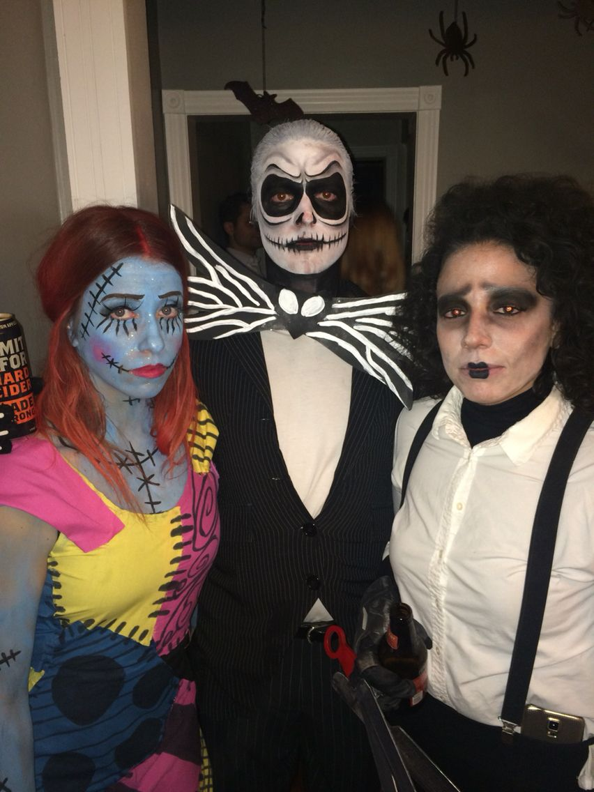 Sally, Jack Skellington, and Edward Scissorhands / Halloween / Tim Burton /  DIY /