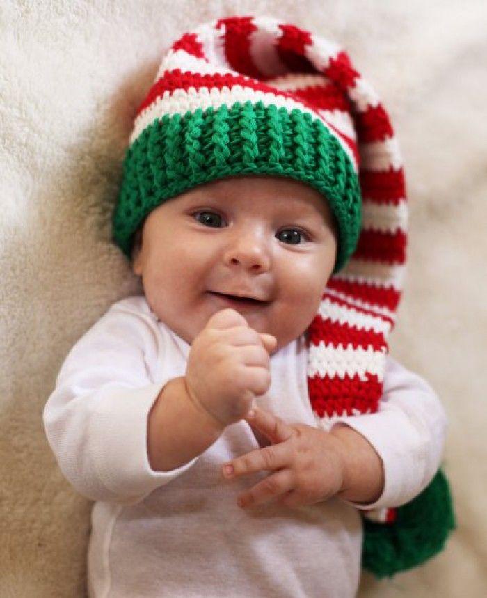 Kerstmuts Kerstmutsen Pinterest Crochet Baby Hats Crochet