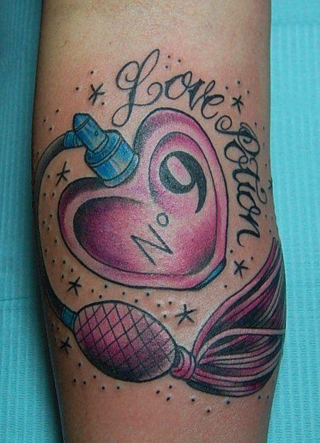 Small Bottle Tattoo: Tattoos By Joseph Haefs: Vintage Perfume Bottle Tattoo