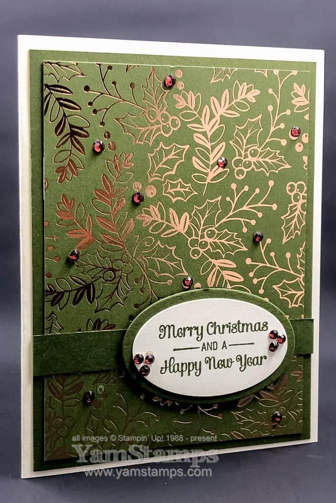 Beautiful and Easy Christmas Card - Yamstamps.com - Linda's Stamping Blog