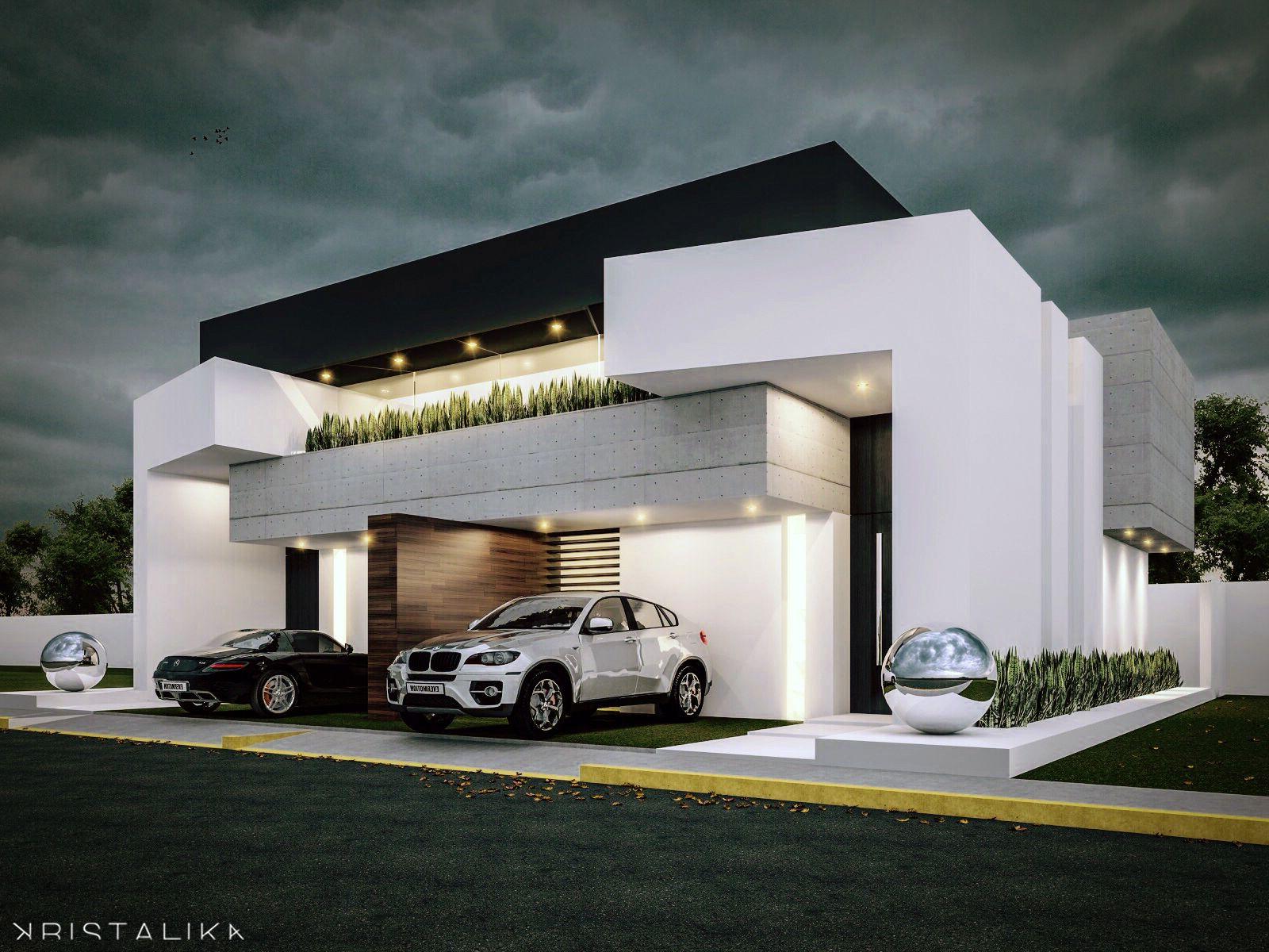 1000 ideas about modern house facades on pinterest for Casas minimalistas grandes