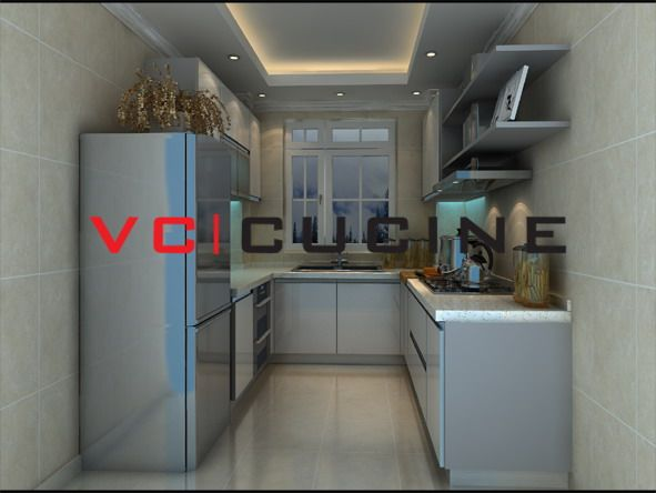 High Quality White Uv Painting Kitchen Cabinet Uv Kitchen Cabinets