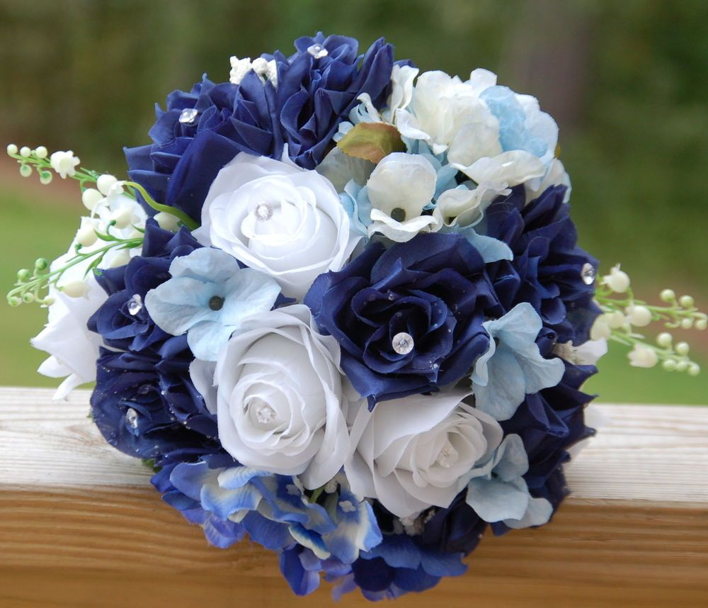 Wedding Bouquets And Blue Flowers