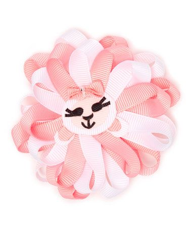 Another great find on #zulily! Pink & White Lamb Boutique Hair Bow #zulilyfinds