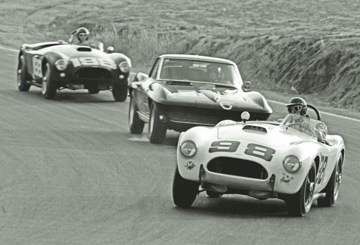 Ken Miles and Dave MacDonald in Carroll Shelby's Cobras in their second race @ Riverside Raceway