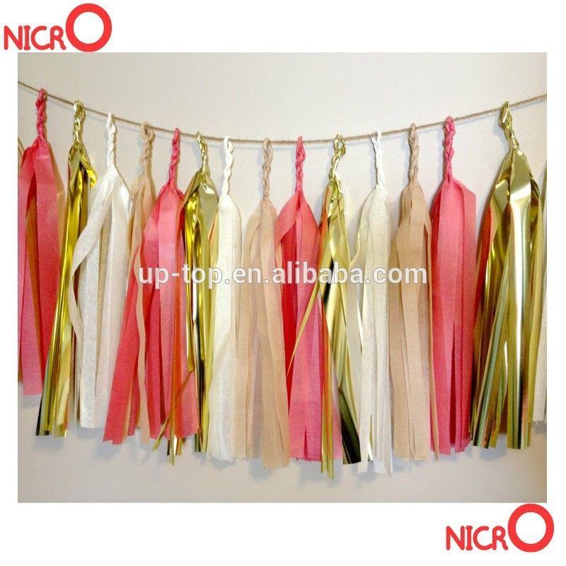18th Birthday Party Decorations Pink Cream Peach Red Tissue Tassel
