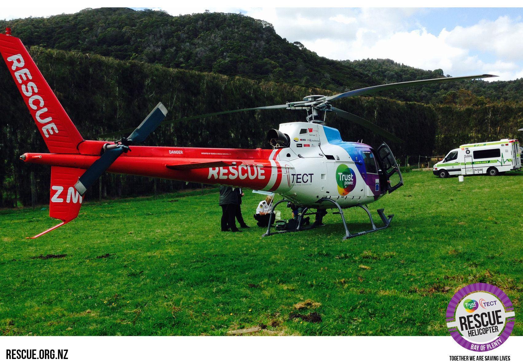 Taurangabased Trustpower TECT Rescue Helicopter responds
