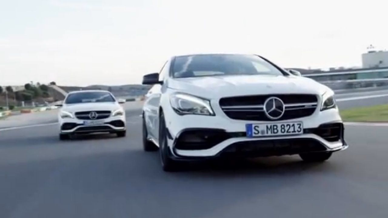 2017 Mercedes Benz CLA and CLA Shooting Brake on Racetrack ...