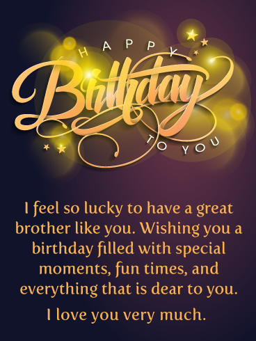 Birthday Images For Brother : birthday, images, brother, Lucky, Happy, Birthday, Brother, Greeting, Cards, Davia, Quotes,, Greetings, Brother,