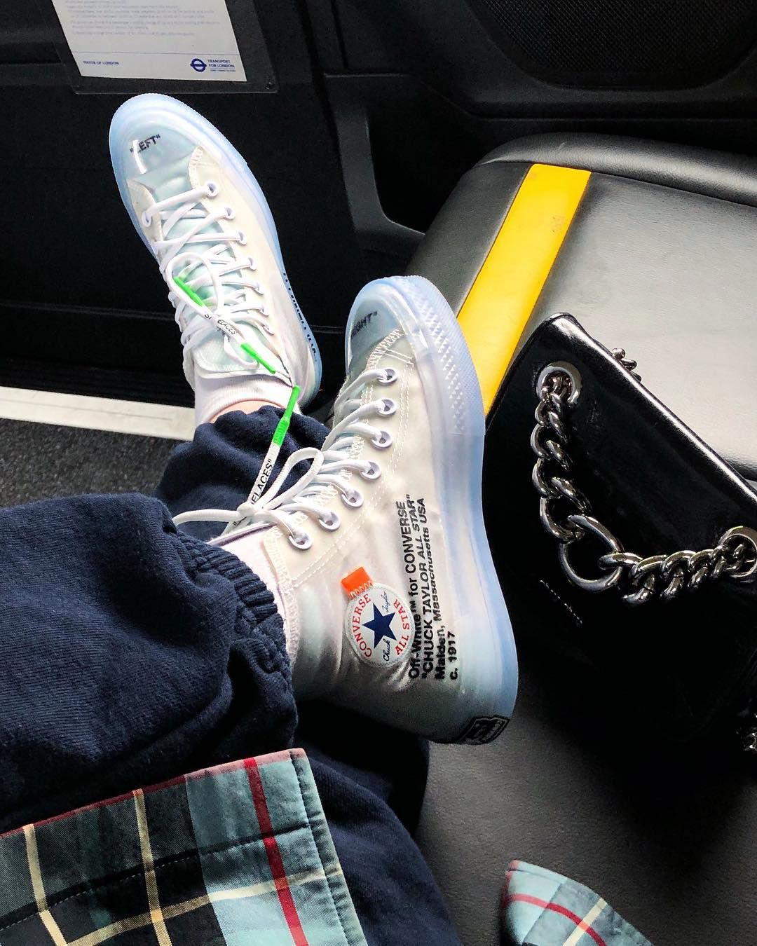 The Off White X Converse Chucks Dropped Today Did You Manage To Grab A Pair Photo By Coradelaney Ba White Converse Outfits Sneakers Fashion Off White Shoes