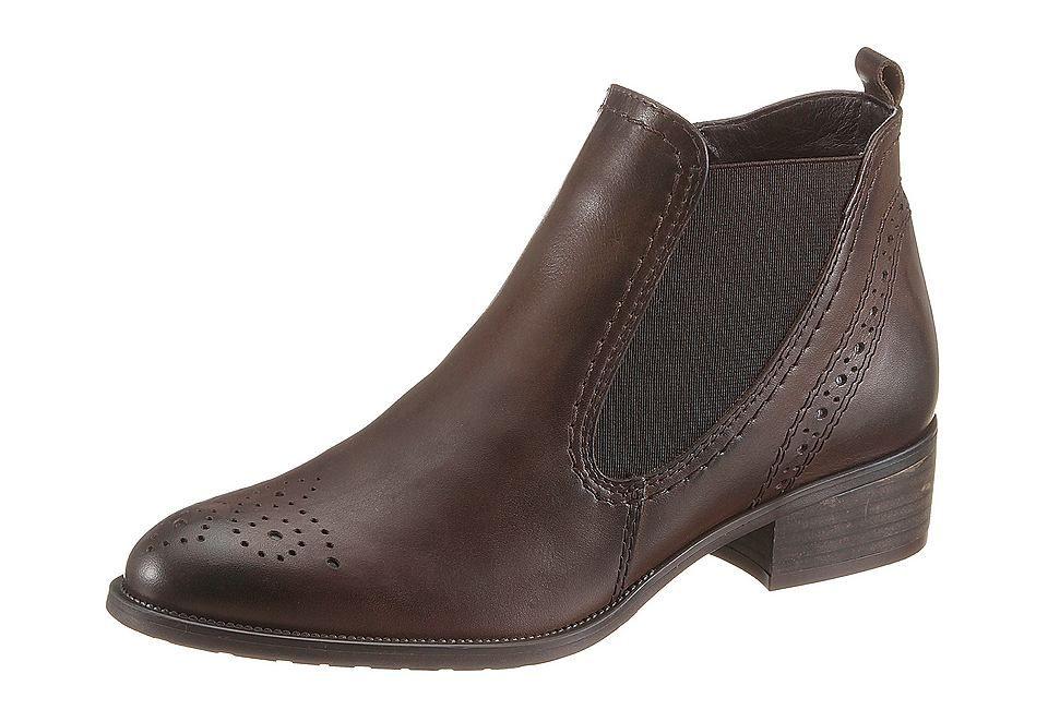 Tamaris Chelsea Boots aus Leder, Futter: Textil, Innensohle: Synthetik/Textil, Laufsohle: Synthetik, Absatzhöhe: 30 mm, Schuhweite: normal (Weite F), Reißverschluss, Stretcheinsatz....