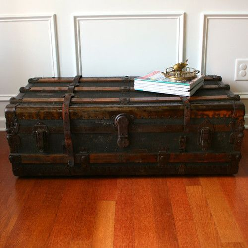 Antique Steamer Trunk Coffee Table By Rhapsody Attic Eclectic