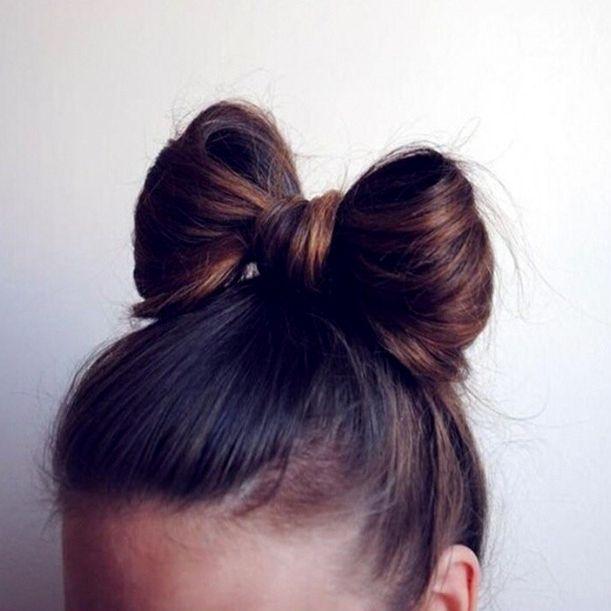 High Bow Bun Hair Styles Hair Hair Inspiration