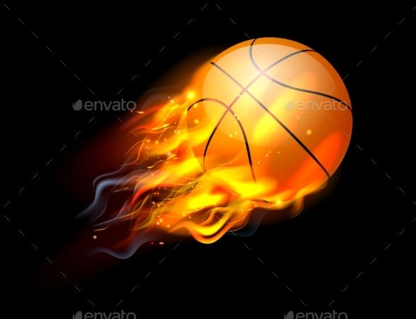 Basketball On Fire Ball Team Gifts Diy Basketball Ball