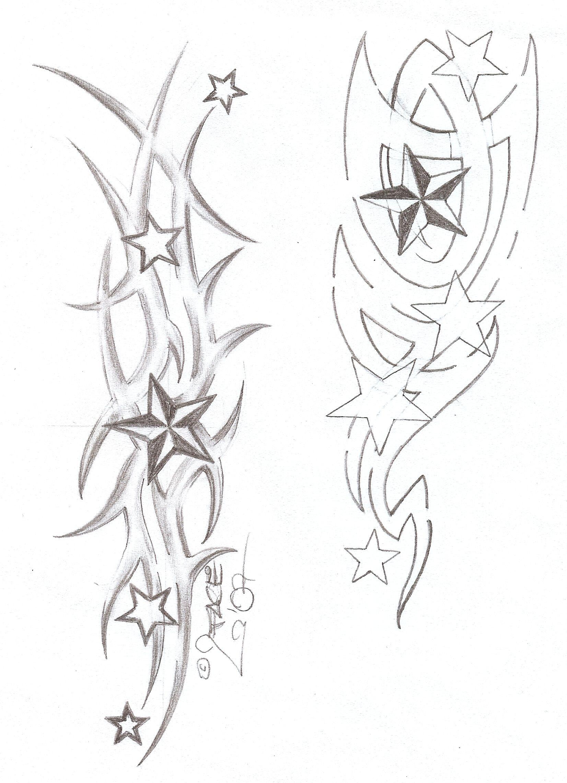 Tattooflash Tribal Stars by on