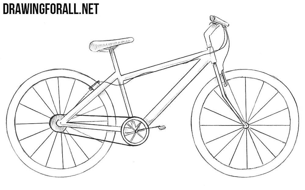 How To Draw A Bike In 2020 Bicycle Drawing Bike Drawing Simple