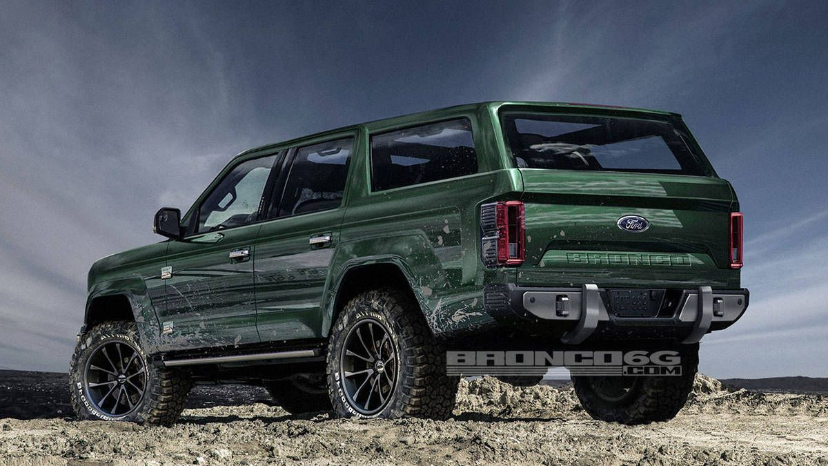 the new ford bronco four door rendering colorado car guy pinterest ford bronco ford and. Black Bedroom Furniture Sets. Home Design Ideas