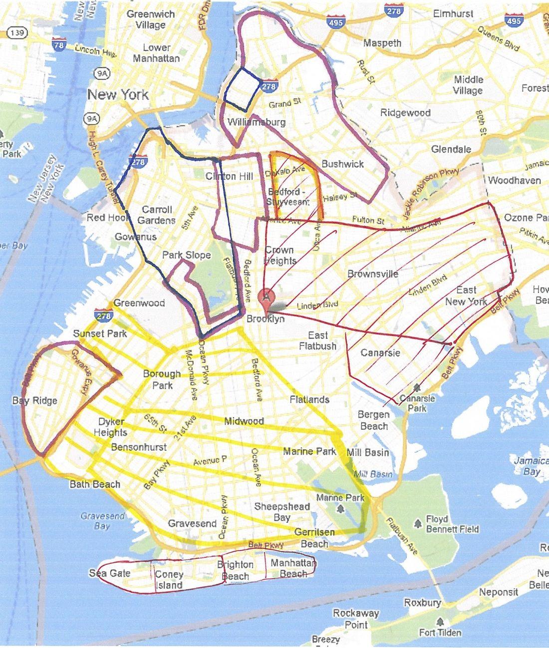 Map of neighborhoods to avoid in Brooklyn Renting Prep Pinterest