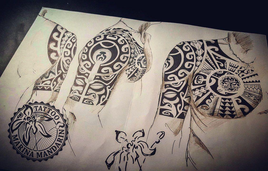 полинезийская татуировка Tattoo Sketches Polinesian Style