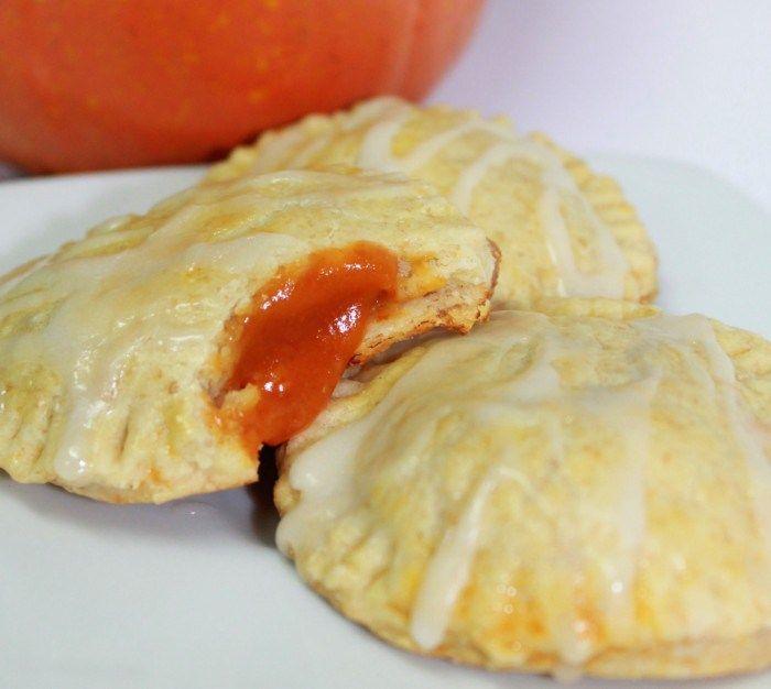 Pumpkin Pie Pop Tarts with Caramel Glaze - Inspired by Familia