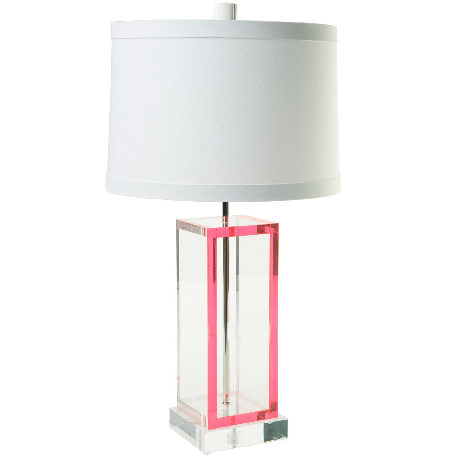 Times Two Design Acrylic Neon Pink Acrobat Table Lamp Base