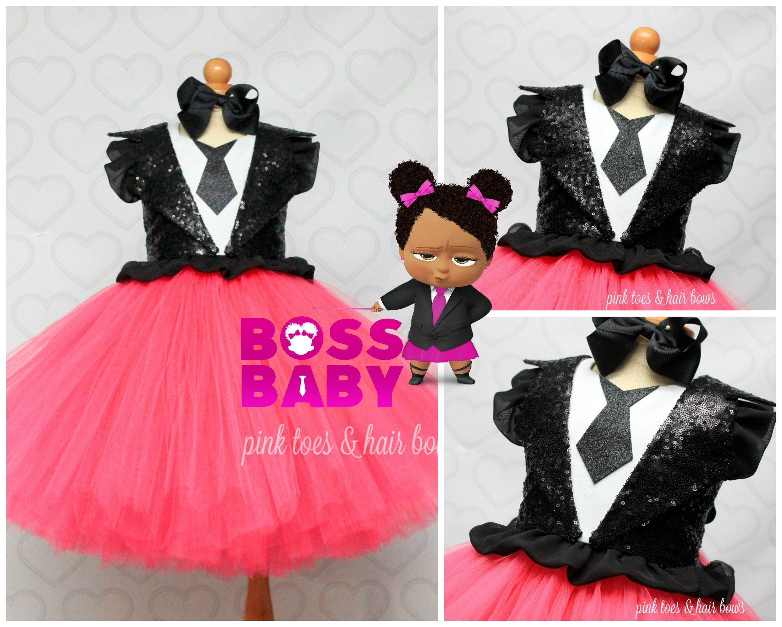 Boss baby dressboss baby tutu setboss baby outfitboss