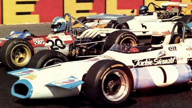 (1) Jackie Stewart - Brabham BT30 Cosworth FVA - John Coombs Racing - (20) François Cevert - Tecno 70 Cosworth FVA - Tecno Racing Team - (5) Jacky Ickx - BMW 270 - Bayerische Motoren Werke - I Trophée de France Formule 2 1970 - Non championship race