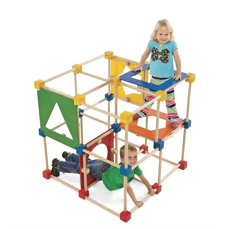 Square Climber Wooden Climbing Cube Active Child Bixby Or Nels