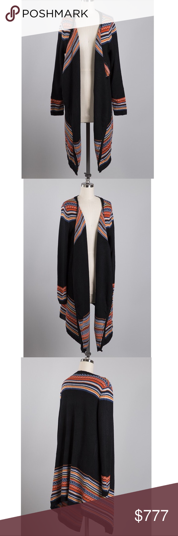 248914aad54d 🍂 Open Front Cardigan Multi colored striped open cardigan. Material ...