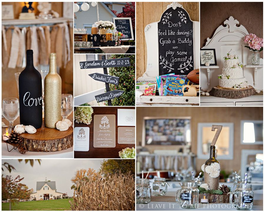 Charming chalkboard touches, wooden accents, burlap and lace work well together!  c/o leaveittomephotography.com www.floracornerfarm.com