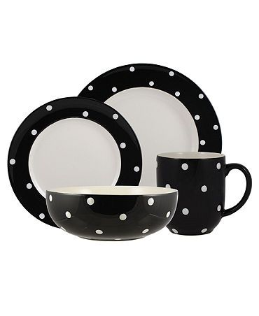 because you cannot go wrong with spode or black and white polka dots
