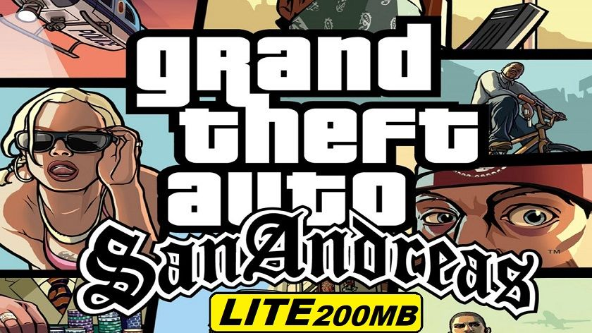 Download GTA San Andreas Lite Android Only 200MB Apk+Data