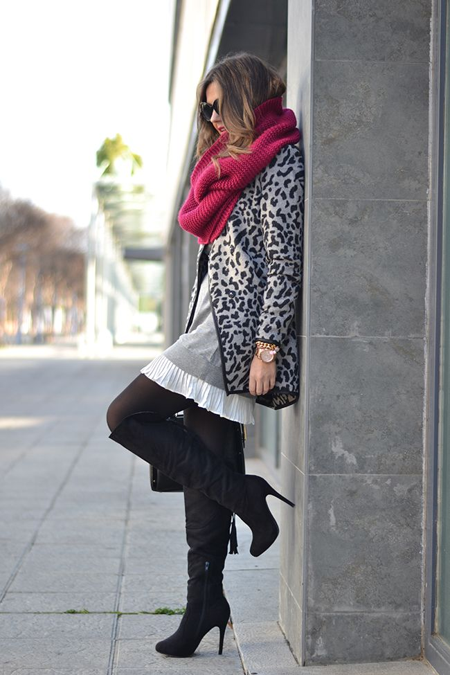 LEOPARD PRINT COAT & RED – Mi Aventura Con La Moda