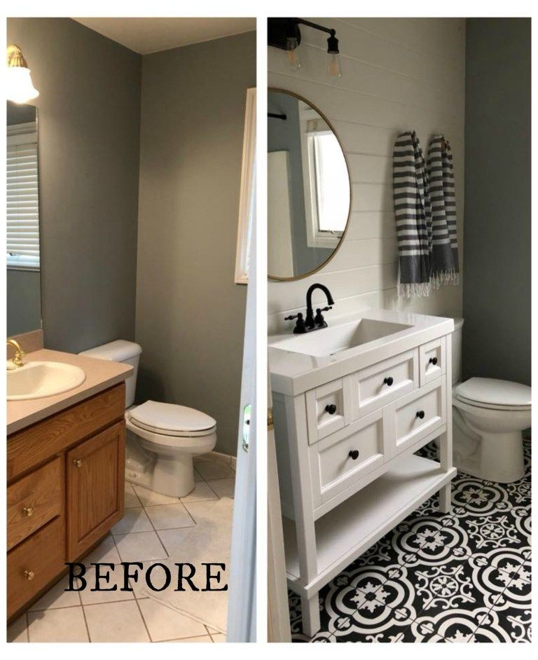 20 Bathroom Makeovers- Before and Afters #bathroommakeovers