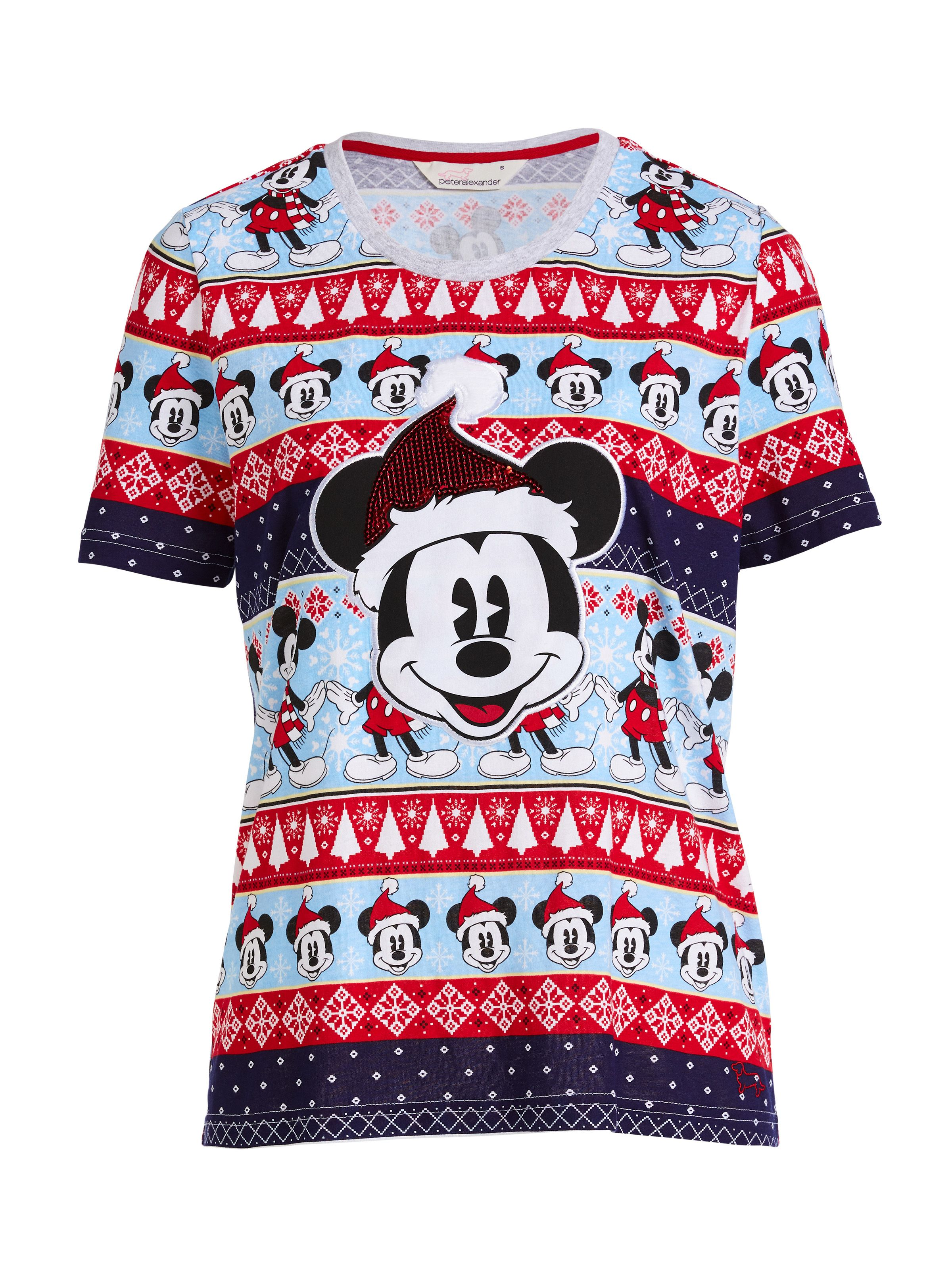 Christmas Mickey Mouse Tee Multi Peter Alexander Online