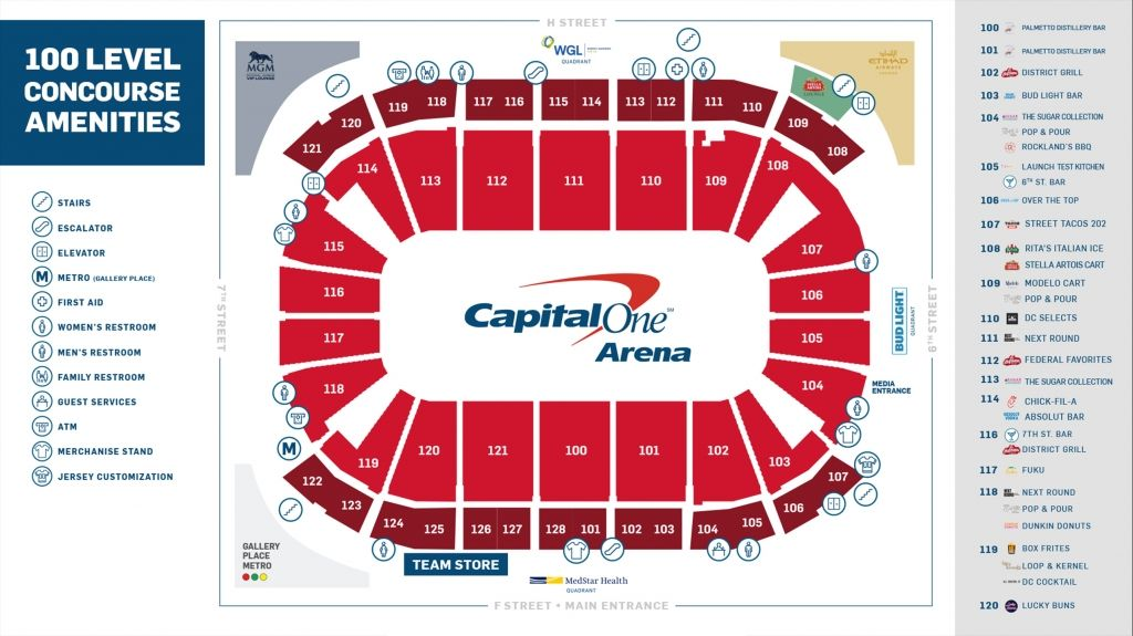 Capitals Seating Plan How To Plan Seating Charts