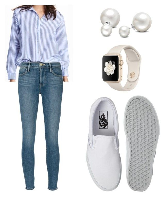 back to school📚 by chesneygreen on Polyvore featuring polyvore, fashion, style, Frame Denim, Vans, Allurez and clothing