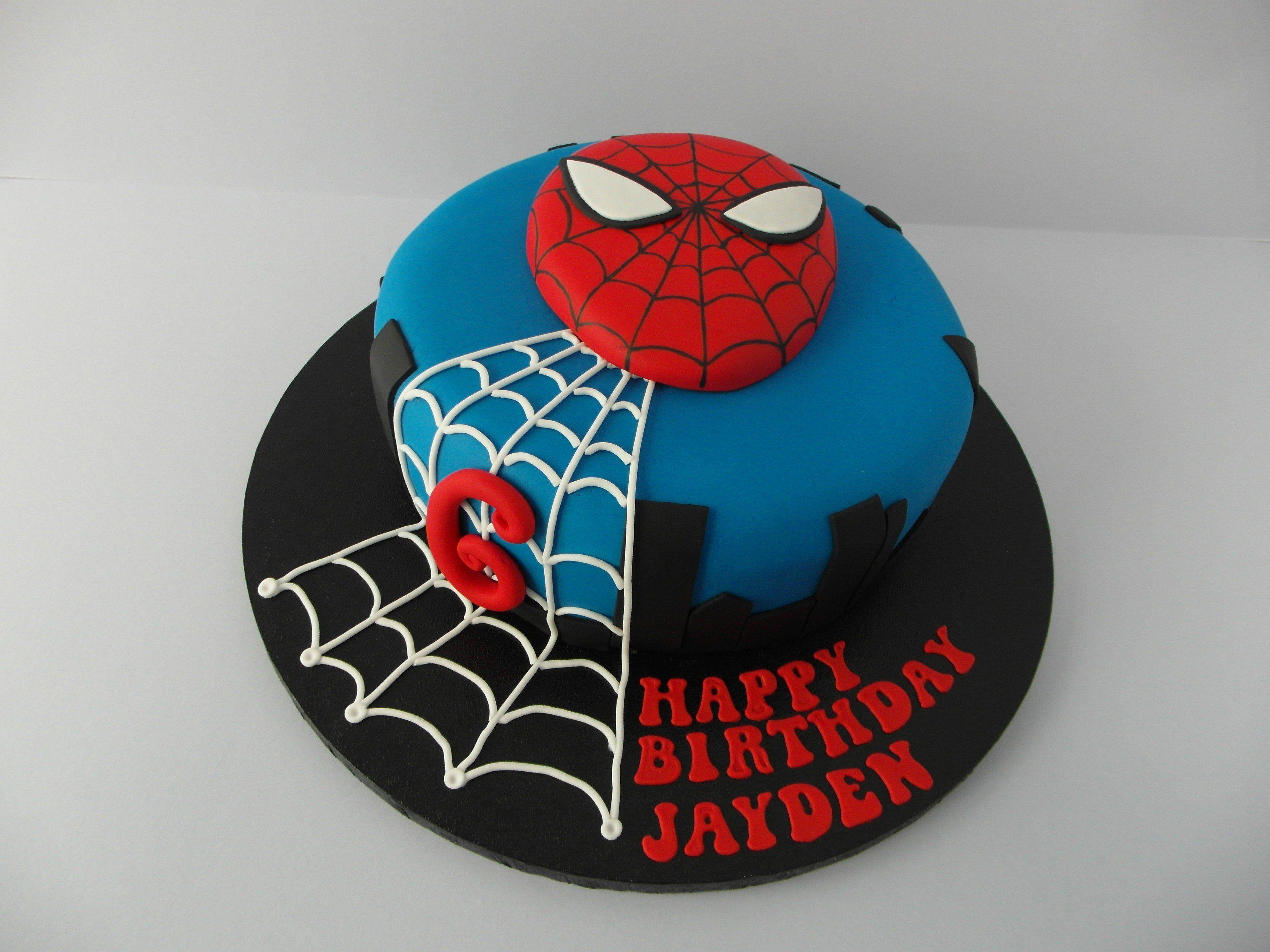 Spiderman Cake With Images Spiderman Birthday Cake Spiderman
