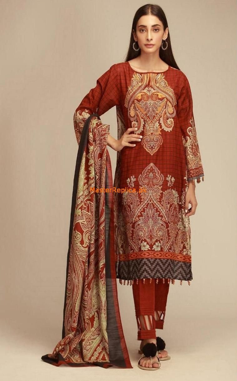Pakistani//Indian Winter Khaddar 3pc Salwar Kameez Suit w// Warm Shawl