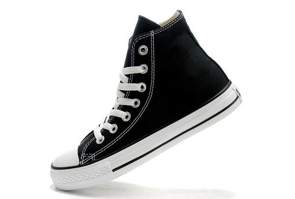 converse negras mujer