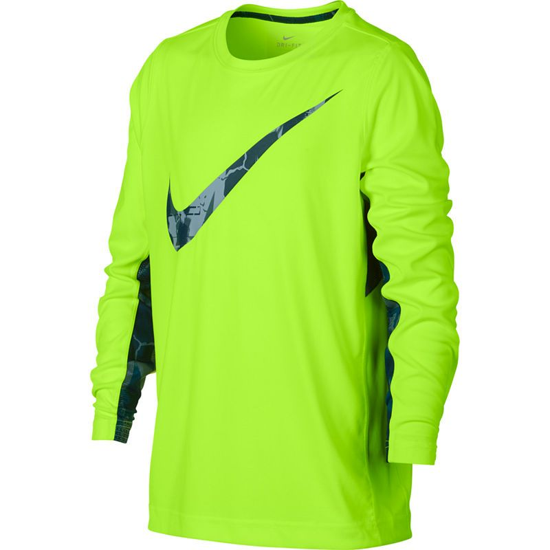 11f03543 Nike Boys Crew Neck Long Sleeve Dri-Fit T-Shirt-Big Kid | Products ...