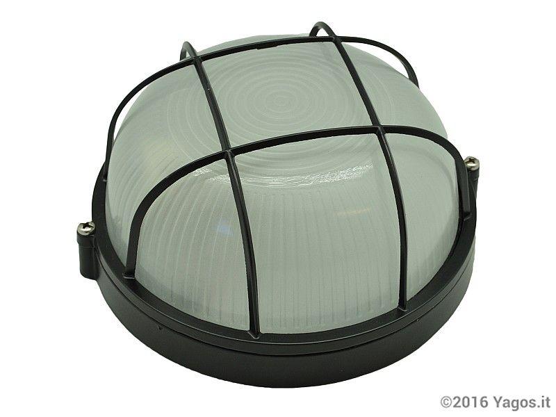 Plafoniera Terrazzo : Plafoniera in alluminio a gabbia saturnina illuminazione