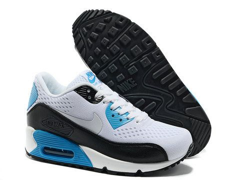 52.99 Nike Air Max 90 EM White Black Laser Blue  25a27d19ab