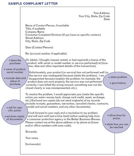 Customer complaint letter Good ta know Pinterest Customer - complaint letter