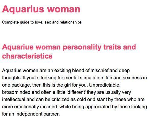 Female aquarius personality