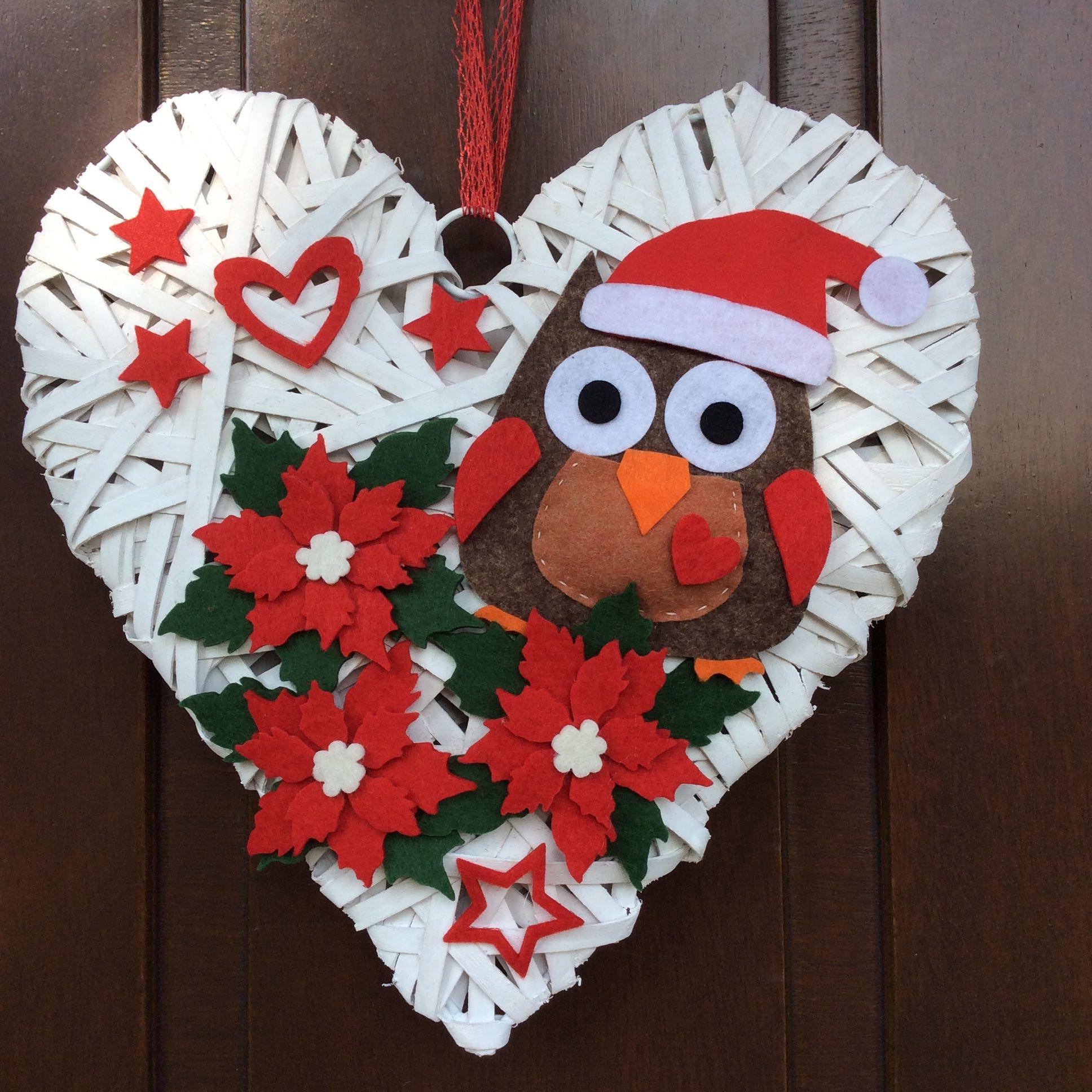 Gufo in feltro natalizio decorazioni natalizie for Ornamenti casa