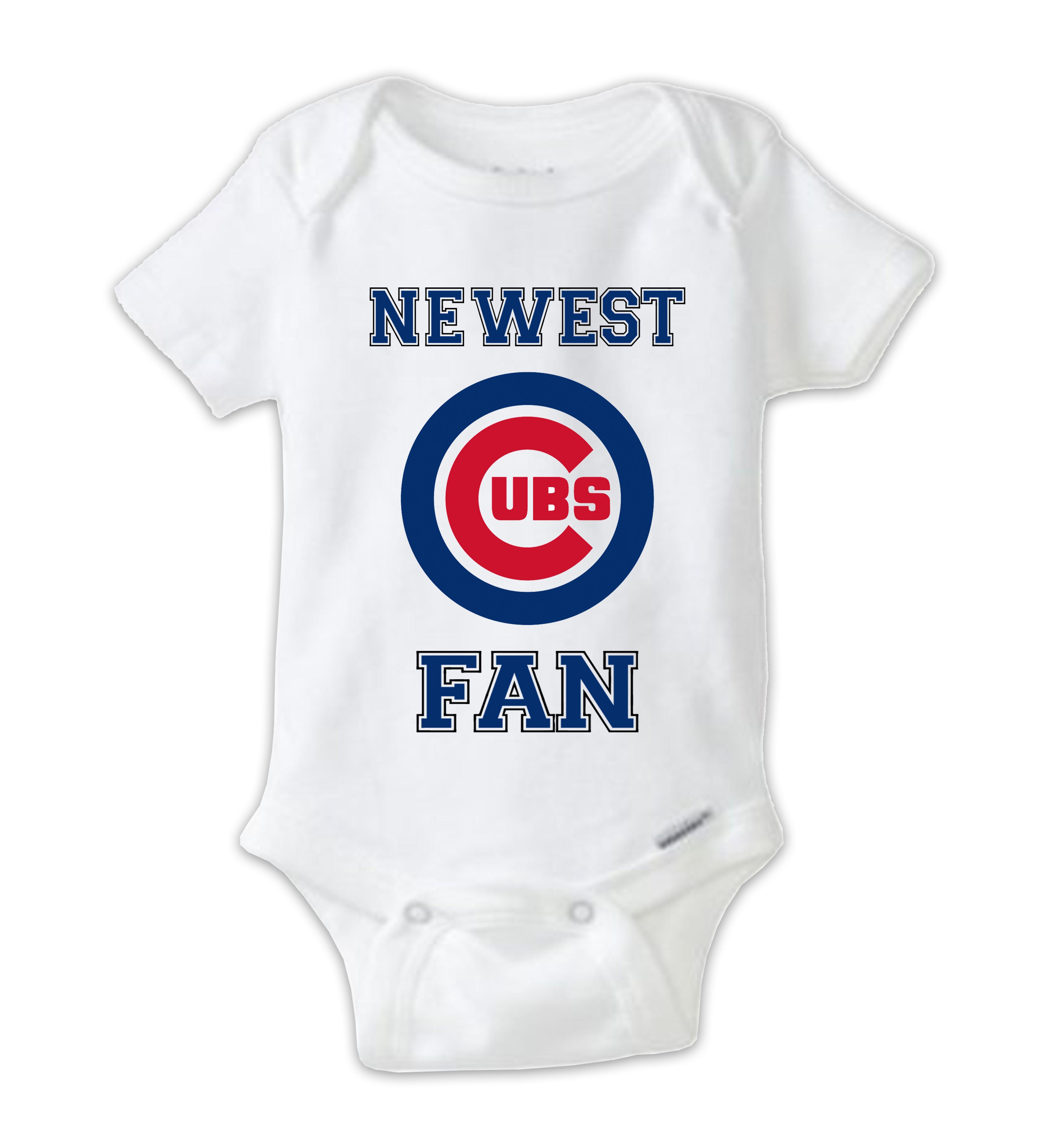 Chicago CUBS Fan Baby esie CUBS Baby Bodysuit Newest Cubs Fan