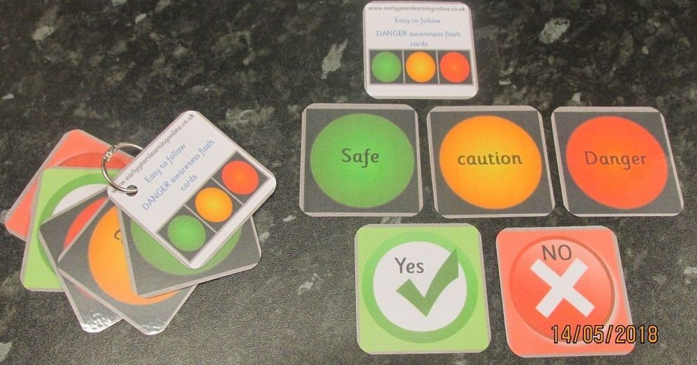 Numbers 1-10 with colours flash cards ~ 10cm x 5.5cm ~ Reception first numbers